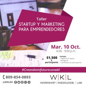 Startup y Marketing para Emprendedores.